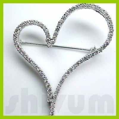 Genuine 1.99 ctw 14K Diamond Studded Fashion Brooch