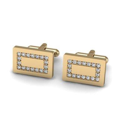 Genuine 1.08 ctw Diamond Cufflink 14k W/Y Gold