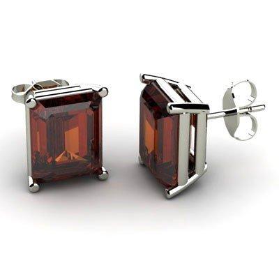 Genuine 18.00 ctw Garnet Earring 14k W/Y Gold