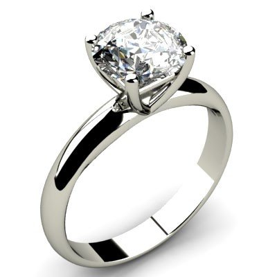 1.00 ct Round cut Diamond Solitaire Ring, G-H, SI2