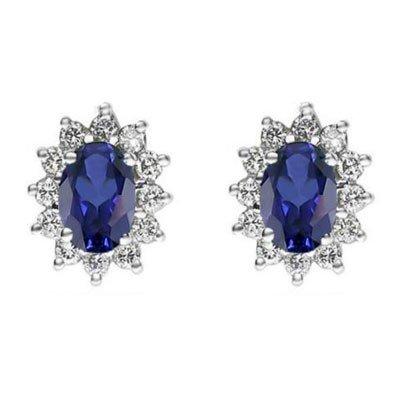 Genuine 2.38 ctw Sapphire Earring 14k 2.1g