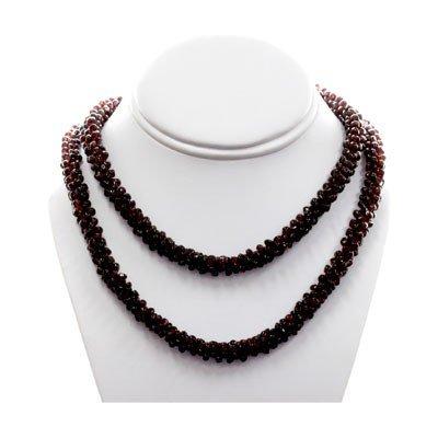 Natural Mozambique Garnet Pillet Beads Necklace
