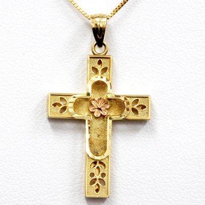 Genuine Cross Pendant Necklace 14k