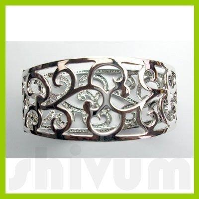 Genuine 2.48 ctw 18K Diamond Studded Fashion Bangle SI1