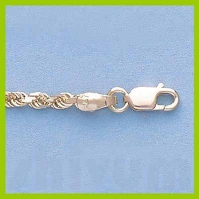 "Genuine 16"" 14k  Gold-Yellow 2.5mm D/C Rope Chain 8.2g"