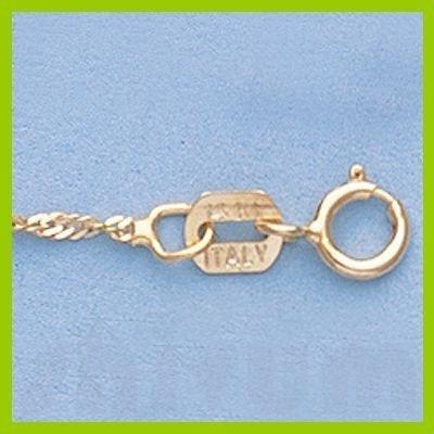 """Genuine 16"""" 14k Singapore Gold-Yellow 1.2mm Chain 1.3g"""