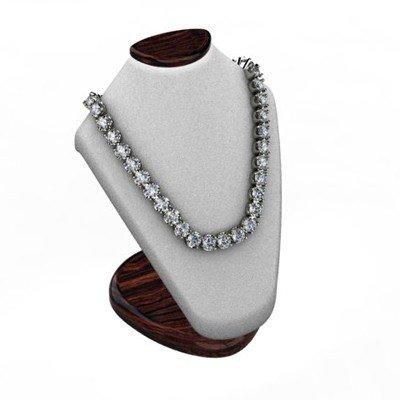 Diamond Necklace 20.0 ctw 18kt W/Y Gold