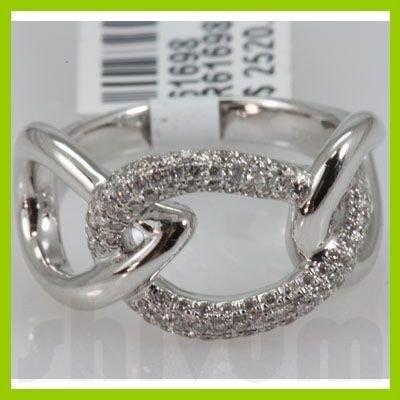 Genuine 0.39 ctw 18k Diamond White Gold Ring