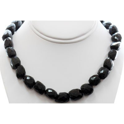 Natural Big Black Spinal Necklace with clasp