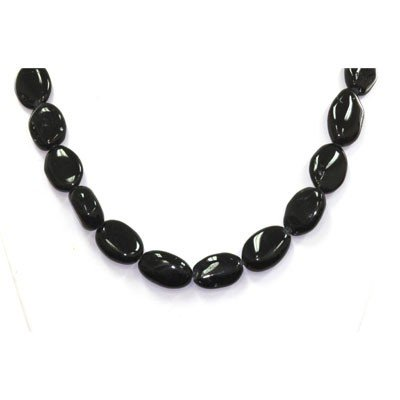 Natural Black Tourmaline  Beads Necklace