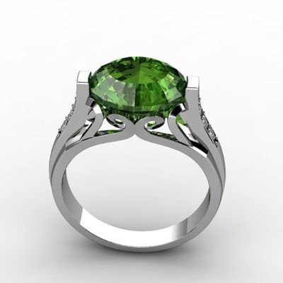 Genuine 5.09 ctw Emerald Ring 18k W/Y Gold