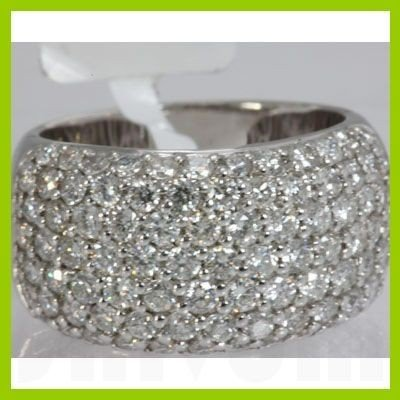 Genuine 2.61 ctw Pave Anniversary Diamond Ring 18kt