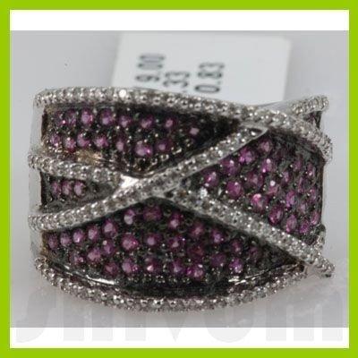 Genuine 1.16 ctw 18k Pink Sapphire & Diamond Ring