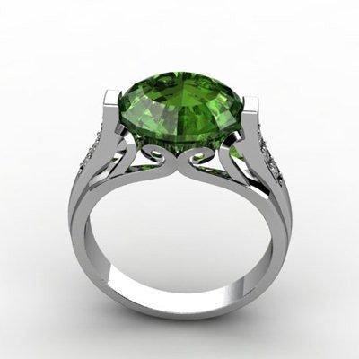 Genuine 5.09 ctw Emerald Ring 10k W/Y Gold