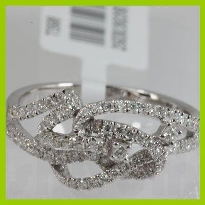 Genuine  0.52 ctw Diamond Ring 18KT White Gold