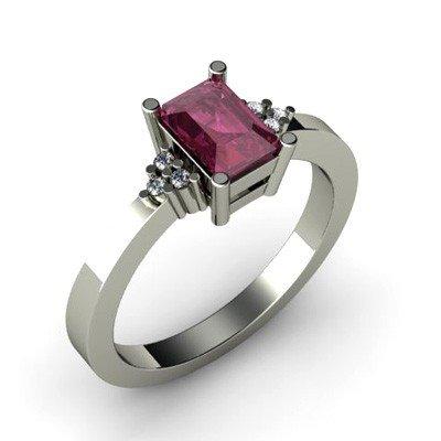 Genuine 0.81 ctw Ruby Diamond Ring 14k