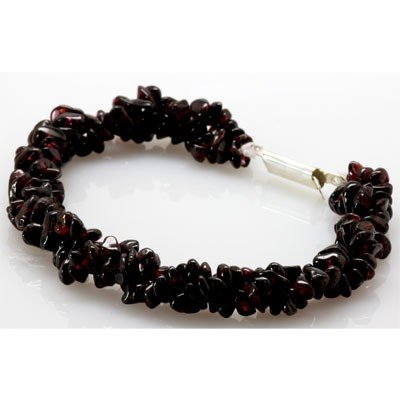 Natural Garnet Bracelet with clasp