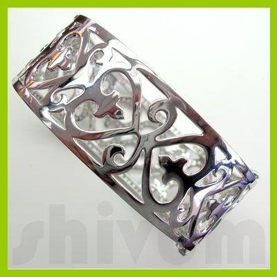 Genuine 3.92 ctw 18K Diamond Studded Fashion Bangle SI1
