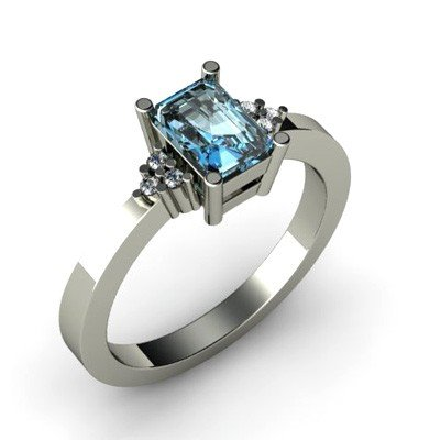 Genuine 0.71 ctw Topaz Diamond Ring 14k