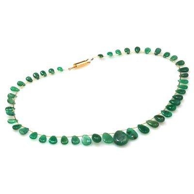 Natural Emarald Briolettes Graduated Necklace 89.35 ctw