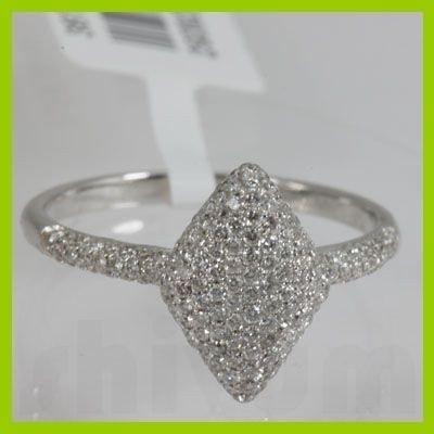 Genuine  0.55 ctw Diamond Ring 18KT White Gold