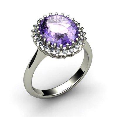 Tanzanite 5.72 ctw & Diamond Ring 18kt W/Y  Gold