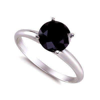 Genuine  Black Diamond 4.0 ctw Ring 14K W/Y Gold
