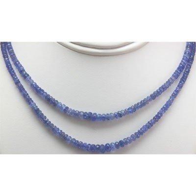 Natural AA 2Row Tanzanite Graduated Necklace 130.15 ctw