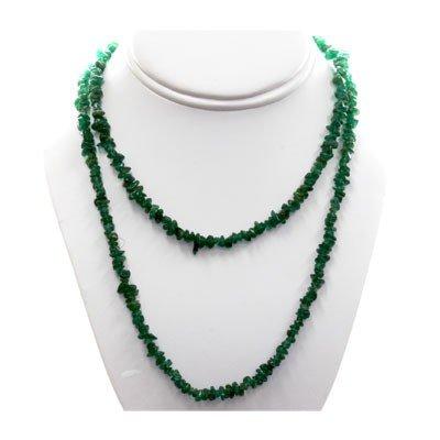 Natural Emerald Uncut Adventurine  Beads Necklace
