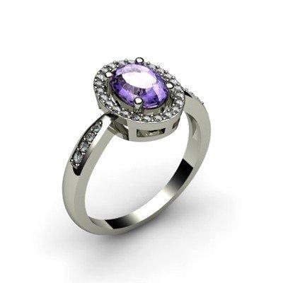 Tanzanite 1.60 ctw & Diamond Ring 14kt W/Y  Gold