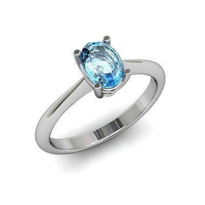 Genuine 2.25 ctw Aqua Marine Ring 14k W/Y Gold