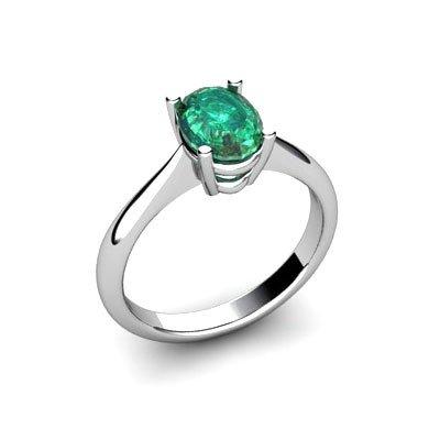 Genuine 2.60 ctw Emerald Ring 14k W/Y Gold