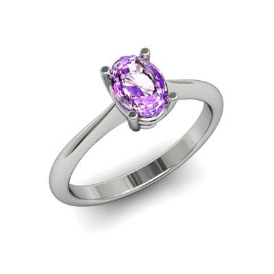Genuine 1.75 ctw Amethyst Ring 18k W/Y Gold