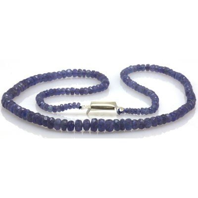 Natural AA Tanzanite Graduated Necklace 70.80 ctw