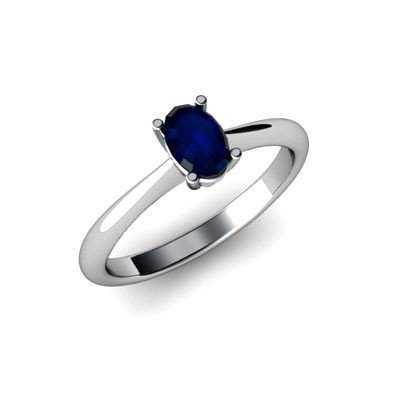 Genuine 2.20 ctw Sapphire Ring 14k W/Y Gold