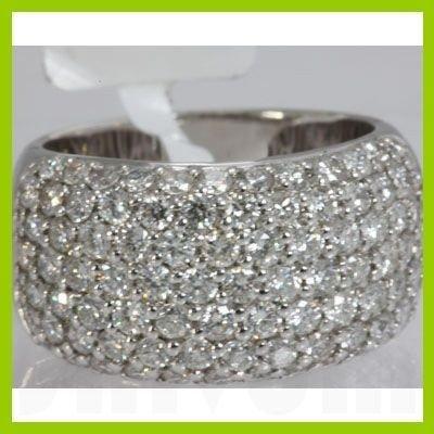 Genuine 2.61 ctw Pave Anniversary Diamond Ring 18kt