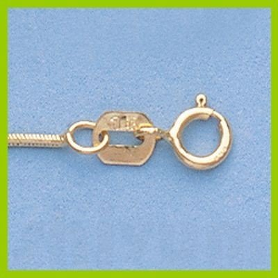 "Genuine 16"" 14k  Gold-Yellow  0.7mm DC Snake Chain 2.5g"