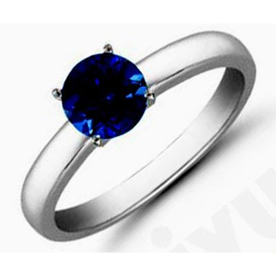 Sapphire 2.25 ctw Solitaire Ring 14kt W/Y  Gold