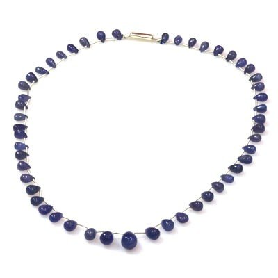 Natural Tanzanite Teardrop Beads Necklace 92.35 ctw