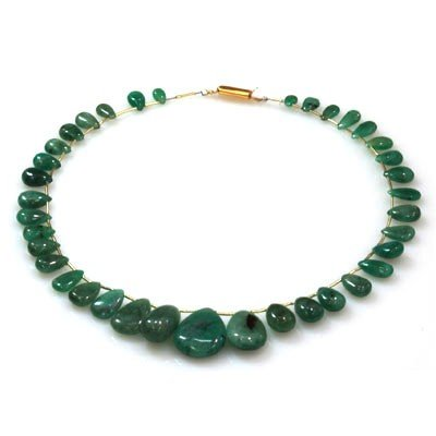 Natural Emeralds Graduated Necklace 160.20 ctw