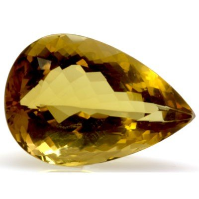 Natural Citrine Pear Cut 16x25mm 1 pc/lot 20.95 ctw