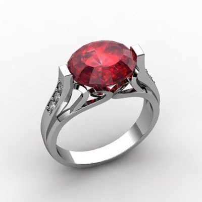 Genuine 6.09 ctw Ruby Ring 10k W/Y Gold