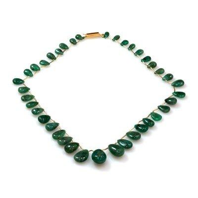 Natural Emeralds Graduated Neckalce 139.85 ctw