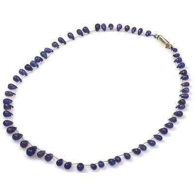 Natural Tanzanite Teardrop Beads Necklace 93.75 ctw