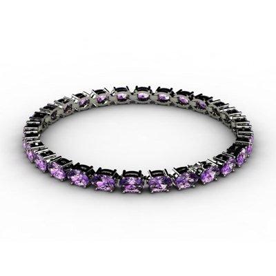 Genuine 10.35 ctw Amethyst Bracelet 18k W/Y Gold 6.8g