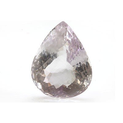 Natural Amethyst Checkered Pear Cut 25x30mm 64.55ctw