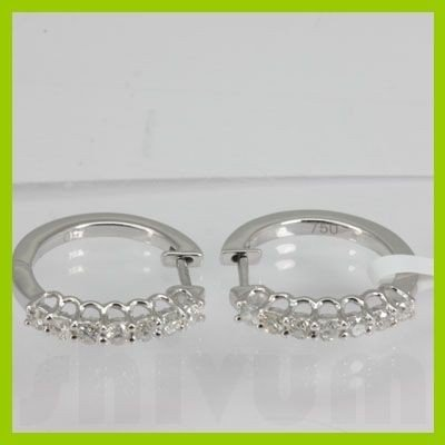 Genuine  0.50 ctw Diamond Earring 18KT White Gold