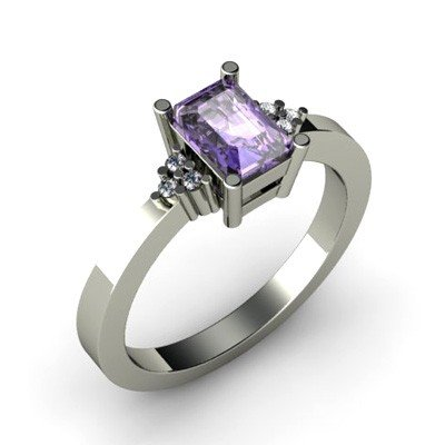 Genuine 0.81 ctw Tanzanite Diamond Ring 10k