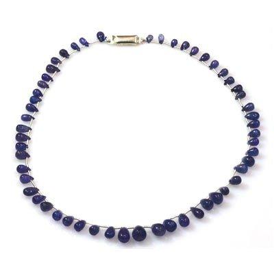 Natural Tanzanite Teardrop Beads Necklace 91.50 ctw