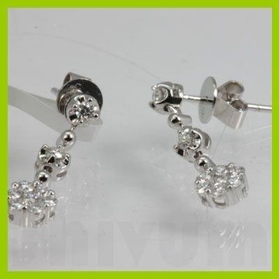 Genuine  0.52 ctw Diamond Earring 18KT White Gold